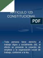 ARTICULO 123 CONSTITUCIONAL