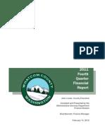 Whatcom County Financial Report - 2011 4th Qtr