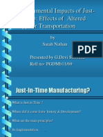 Environmental Impact of JIT Final