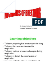 Mechanics of respiration
