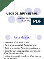 USOS DE SER Y ESTAR