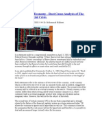Root Cause Analysis of the Current Financial Crisis 2008
