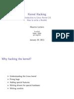 2011 01 19 Kernel Hacking