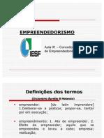 Aula 01 - Conceitos e Definições de Empreendedorismo