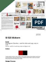 SI 520 Midterm - Basquiat