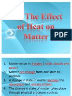 Effect of Heat on Matter