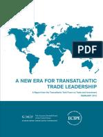 A NEW ERA FOR TRANSATLANTIC TRADE LEADERSHIP (Eng) / Una nueva era para el liderazgo del comercio trasatlántico  (Ing) / Trasatlantiar merkataritzaren lidertzaren aro berria (Ing)