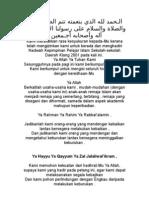 Doa Nadwah Pelajar 2001