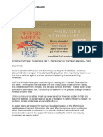 Christians United for Israel = TREASON!