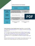 Perbedaan Sistem Pemerintahan Parlementer Dan Presidensial