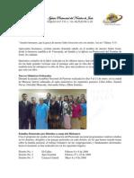 INFORME MISIONERO DE VENEZUELA - A AGOSTO DE 2008