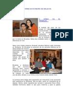 INFORME MISIONERO DE BELGICA - A NOVIEMBRE DE 2008