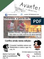 Coletivo Avante! - Jornal 1ª Edição / 2012