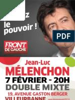 Jean Luc Melenchon 7 Fevrier 2012 20h