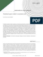 Aspectos Nutricionais dos Ao Ciclo Menstrual 2002
