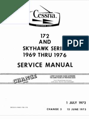 172 Service Manual | Motor Oil | Landing Gear