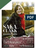 Concierto Sara Clark
