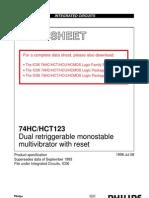 Datasheet Pc74hc123