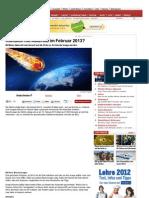 Kollision Mit Asteroid Im Februar 2013 - Www-oe24-At