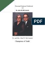 The Personal Sermon Notebook-   Dr. John W. McCormick