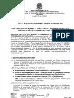 Edital Técnico Administrativo 2012