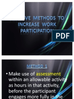 Creative Methods to Increase Work Participation
