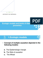 Ecologic Models and Disease Prevention