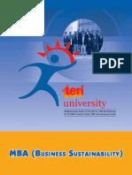 MBA-Business Sustainability 2012