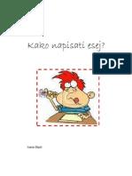 Kako Napisati Esej Iz Hrvatskoga Jezika