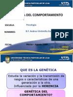 Gentica Del Comport a Mien To