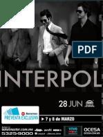 Ocesa Interpol Poster