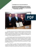 Nota Informativa - Nuevodirectorgeneralescueladerriiygobemboscar Maurtua