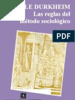 Durkheim, Emile - Las Reglas Del Metodo Sociologico