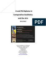MA and PG Dip Aesthetics Booklet 2011 12