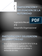 Participacion y Delegacion de La Autoridad
