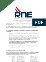 Memorandum N °2-RNE-2012