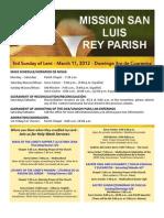 Bulletin for MSLRP 03-11-2012
