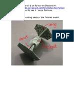 Tie Fighter$ Origami (revision 1)