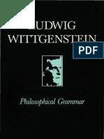 Witt Gen Stein - Philosophical Grammar