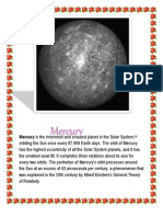 Mercury is the Innermost and Smallest Planet in the Solar System