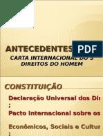 2008 - Carta Internacional dos Direitos Do Homem
