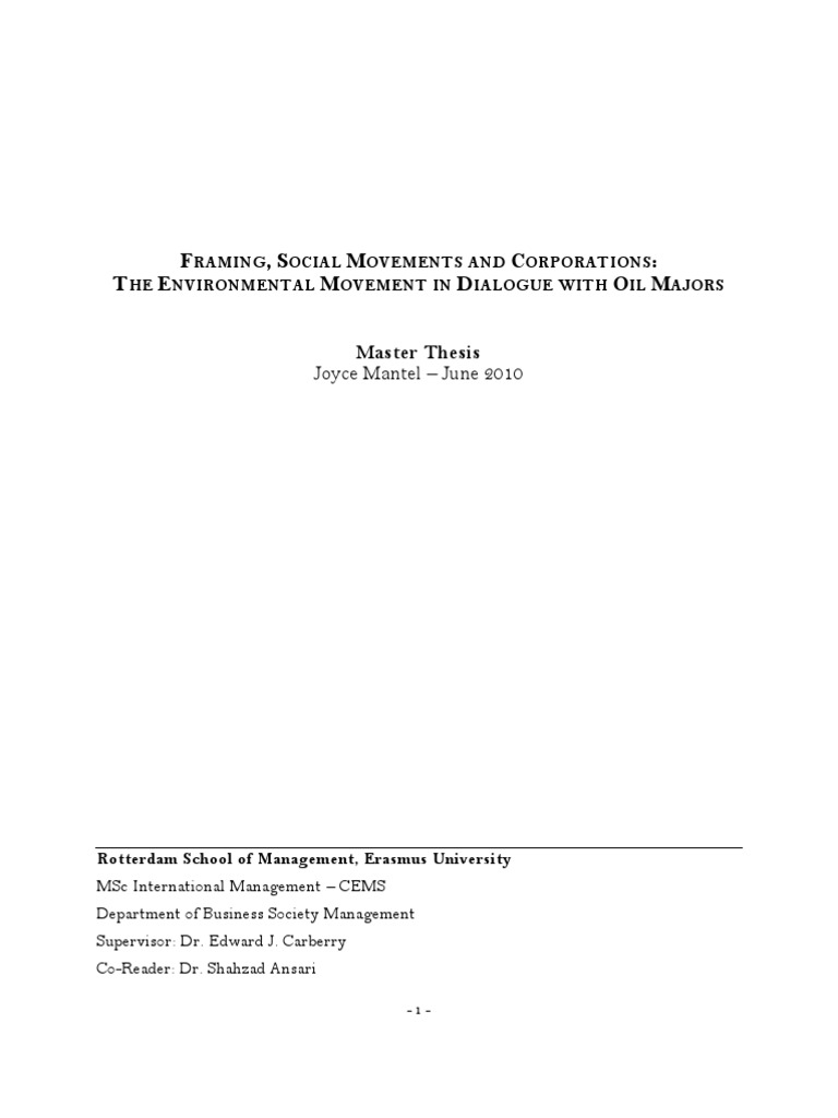 Master thesis in social science