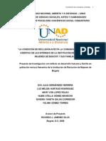 Proyecto de Investigacion en Poblacion Reclusa Femenina