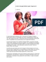 Palestra internacional sobre drenagem linfática agita Congresso de Estética