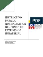 INSTRUCTIVO NORMALIZACION INMATERIAL