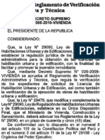 D.S.005-2010MODDELREGLAMENTODEVERIFICACIONADMINISTRATIVATECNICA