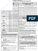 select cambridge 2012 price list