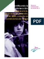 adolescencia, embarazo no deseado, VIH/SIDA y aborto en condiciones de riesgo