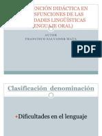 INTERVENCIÓN DIDÁCTICA EN LAS DISFUNCIONES DE LAS HABILIDADES