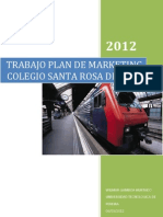 Trabajo Plan de Marketing Colegio Santa Rosa de Lima